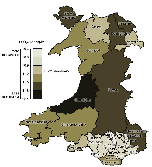 Carbon footprint of Wales